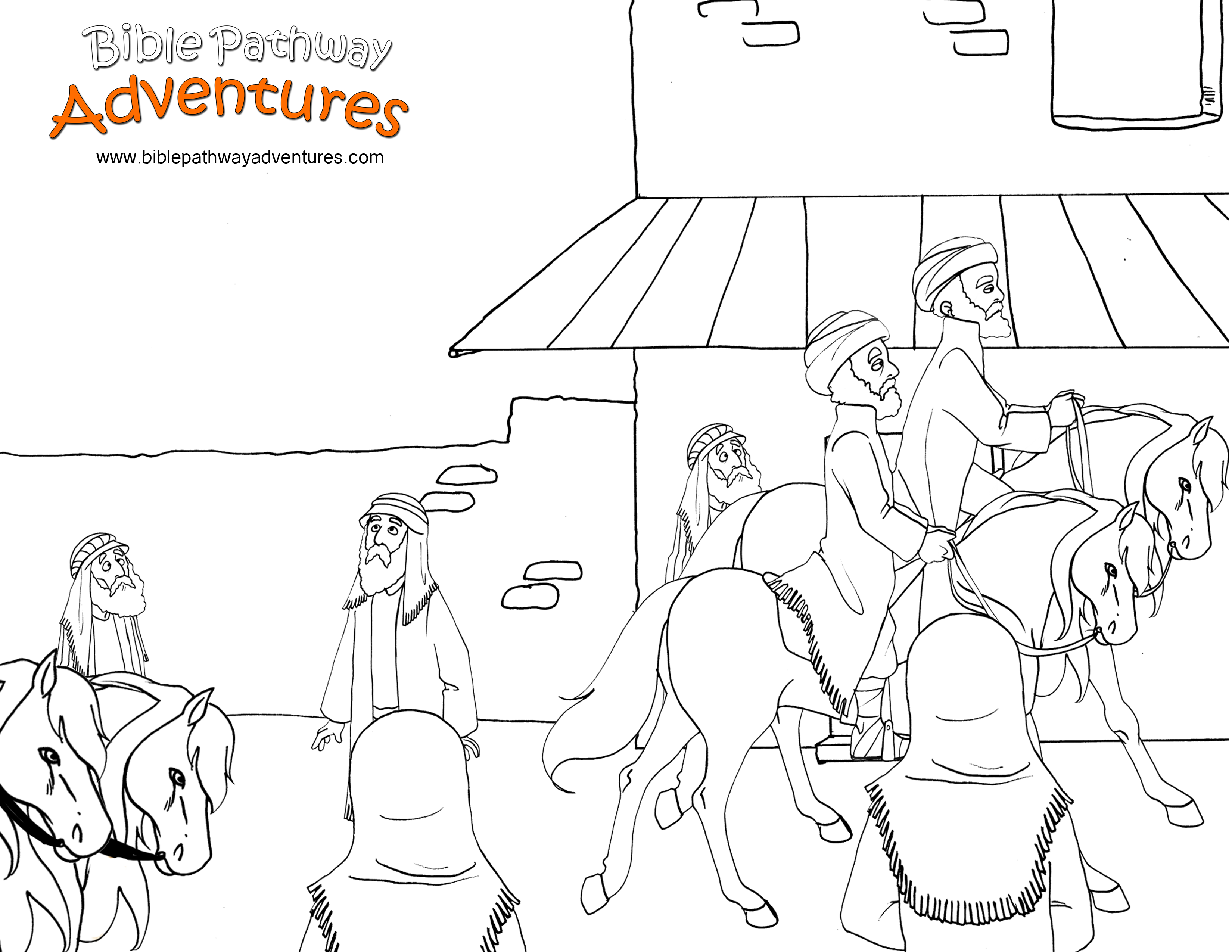 Aaron And The Golden Calf Coloring Pages