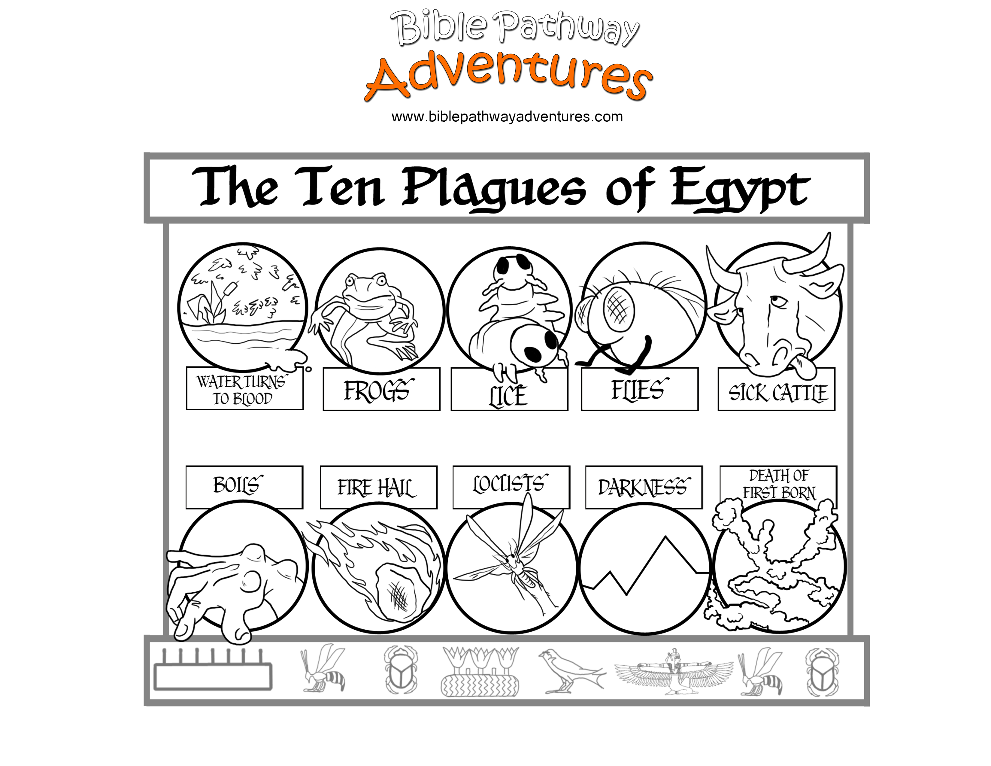 Kids coloring page from what 39 s in the bible featuring for Ten plagues of egypt coloring pages