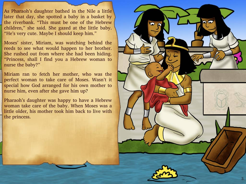 Moses Bible Story Escape from Egypt Moses and the Ten