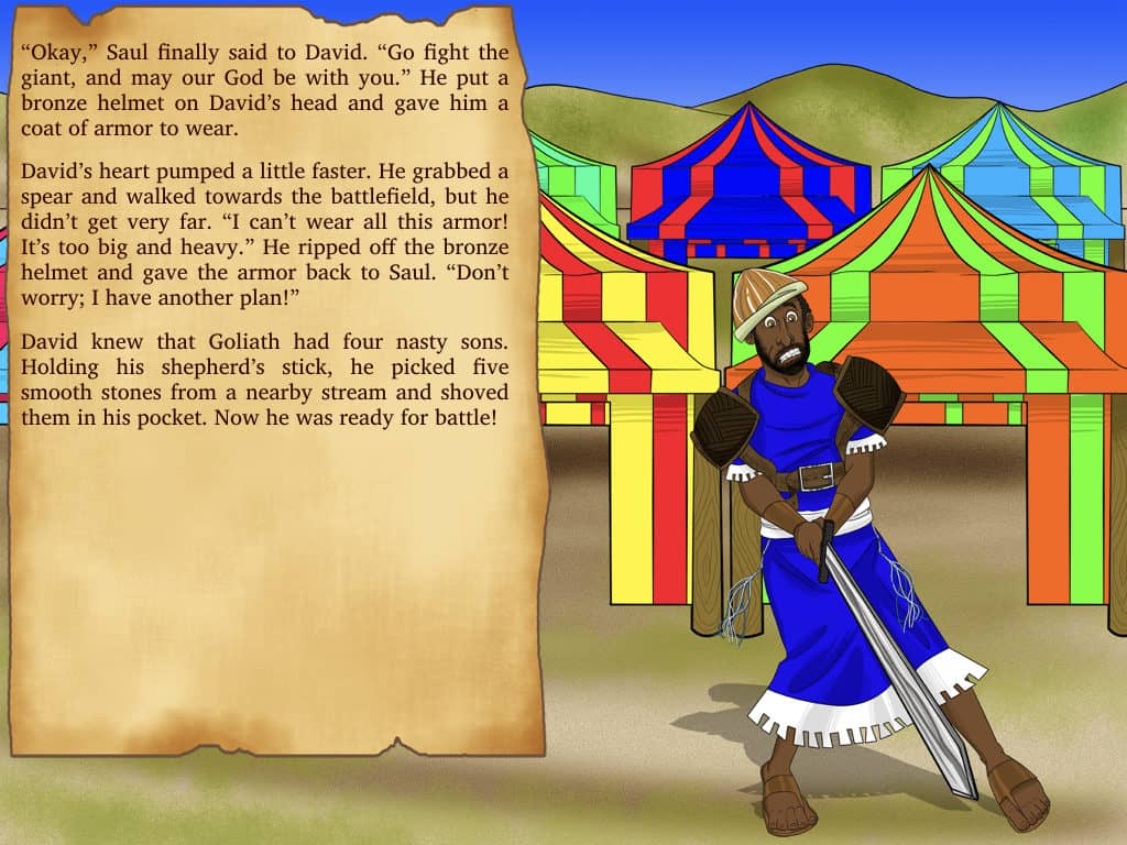 Free Bible Story For Kids David And Goliath Giants