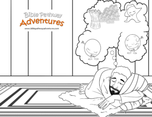 Free bible lesson for kids joseph and his brothers for Joseph king of dreams coloring pages