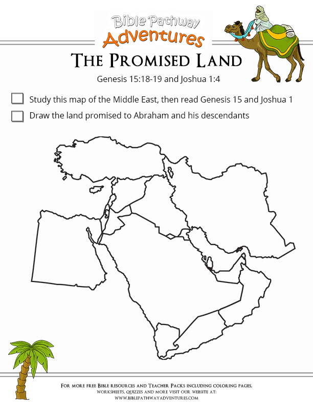 Bible Worksheet The Promised Land Free Download