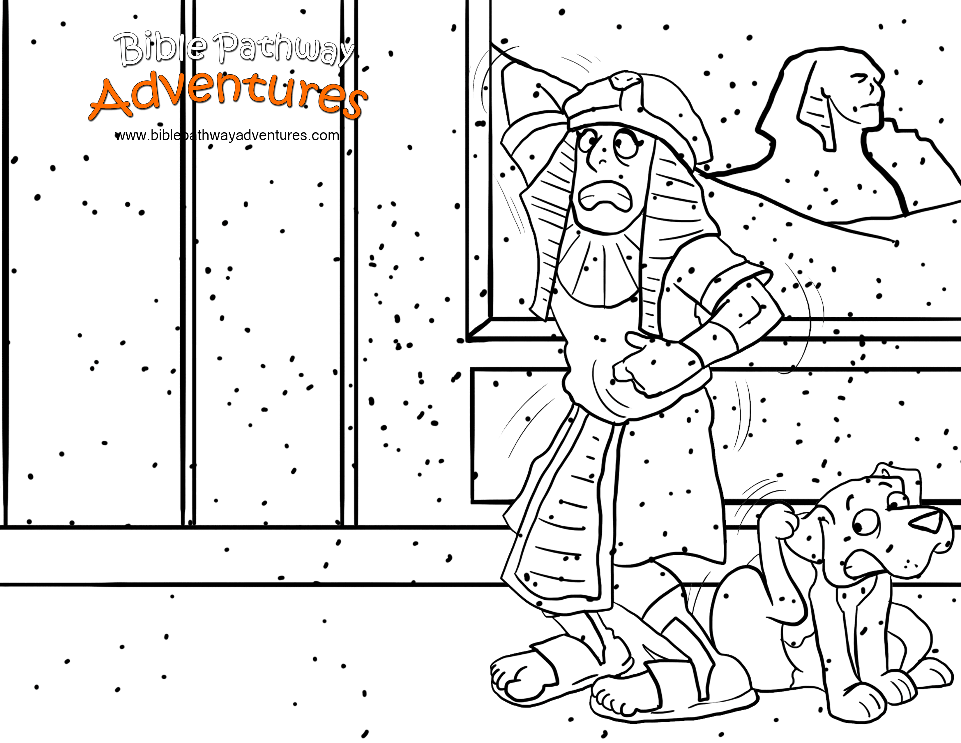 moses and the plagues coloring pages plague of flies moses
