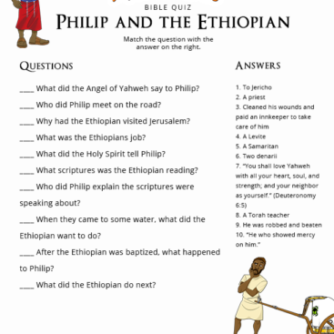 Bible Quizzes For Children