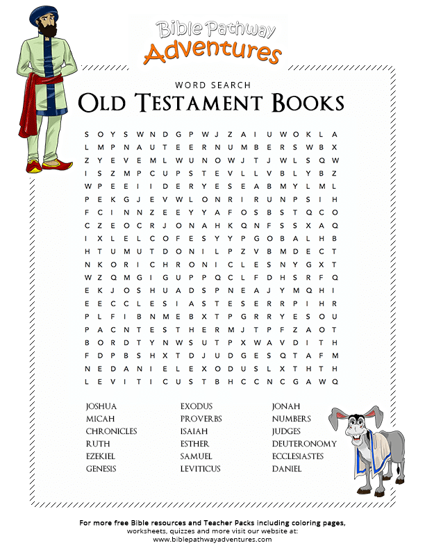 Bible Word Search Old Testament Books Tanakh Free Download