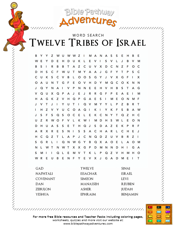 Bible Word Search: Twelve Tribes of Israel : Free Download