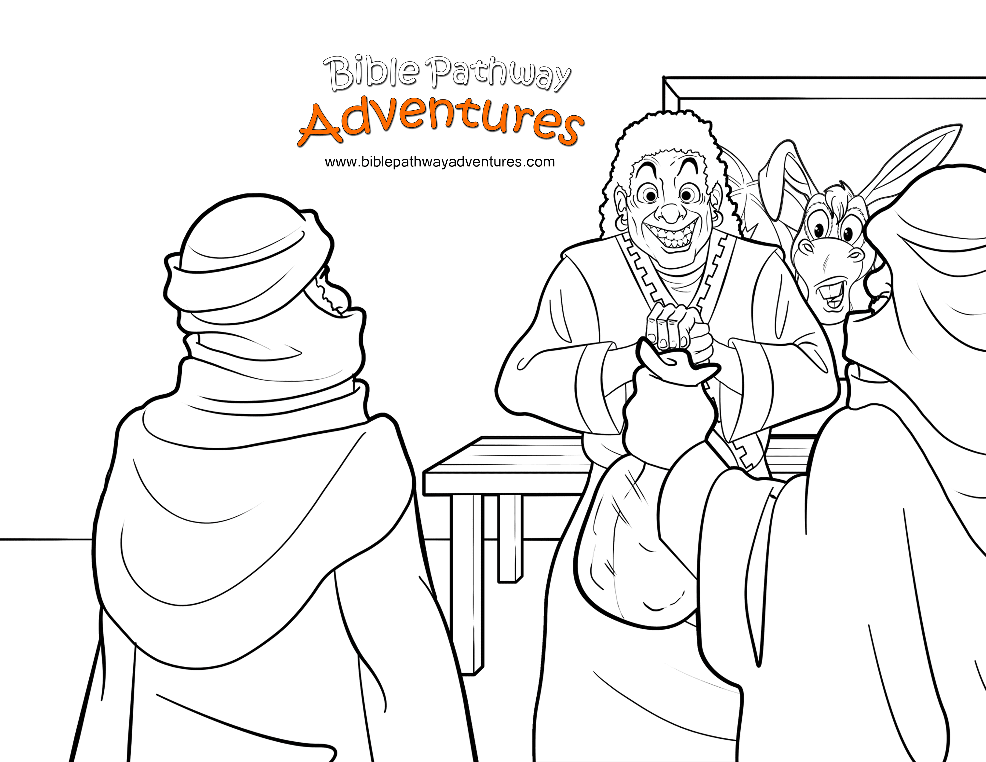bible talking donkey coloring pages - photo#12