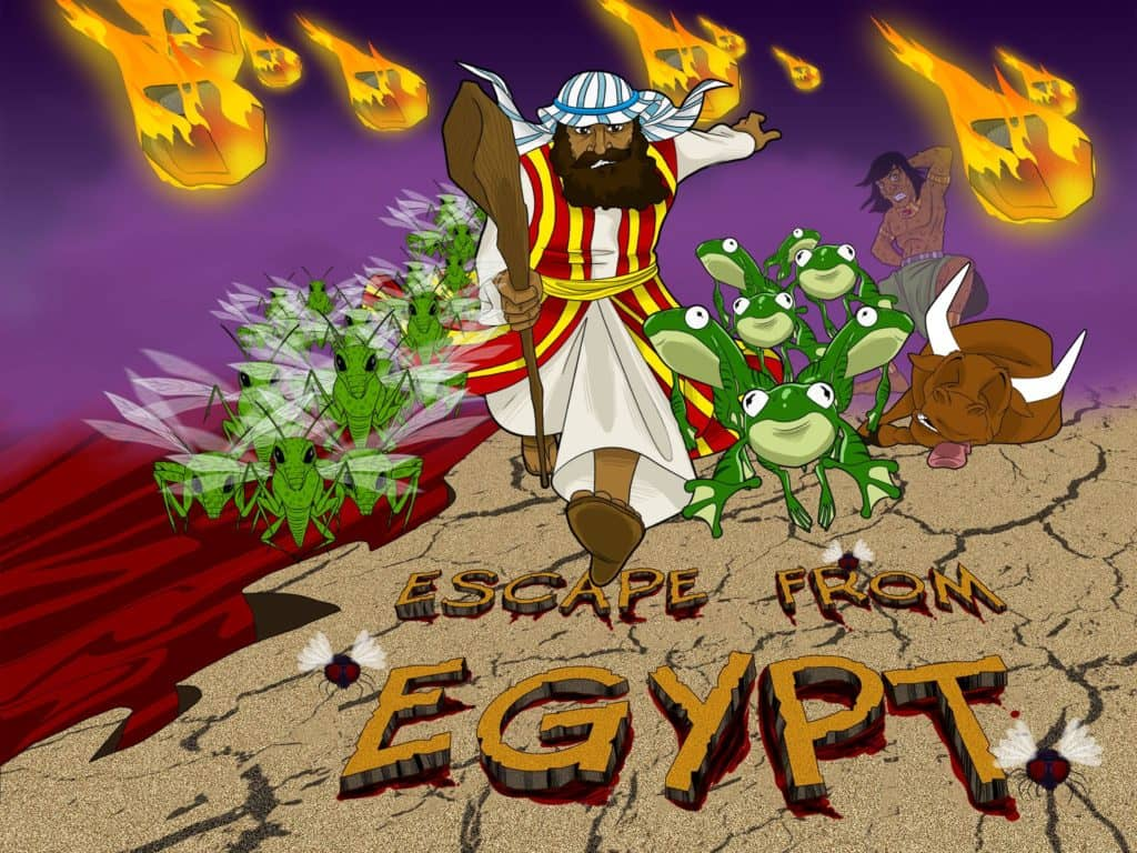 moses bible story escape from egypt moses and the ten plagues