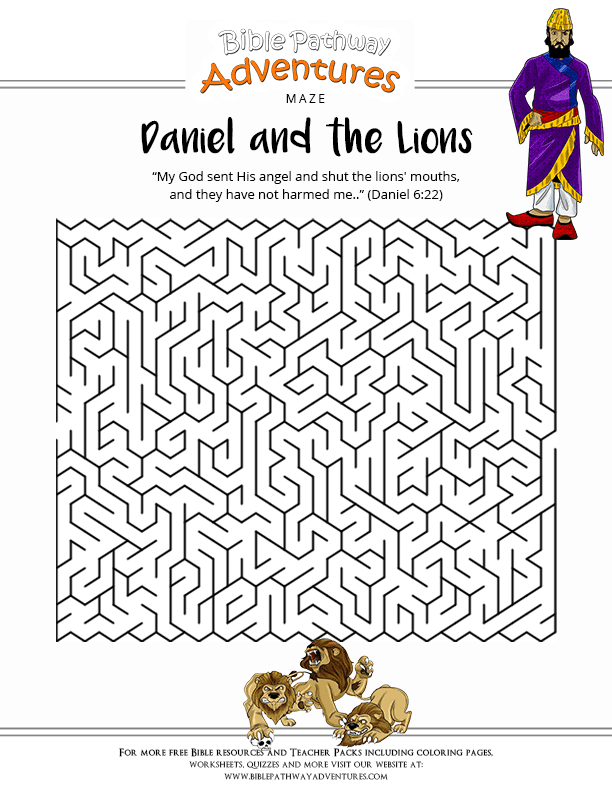 Bible Crossword: Daniel and the Lions : Free Download