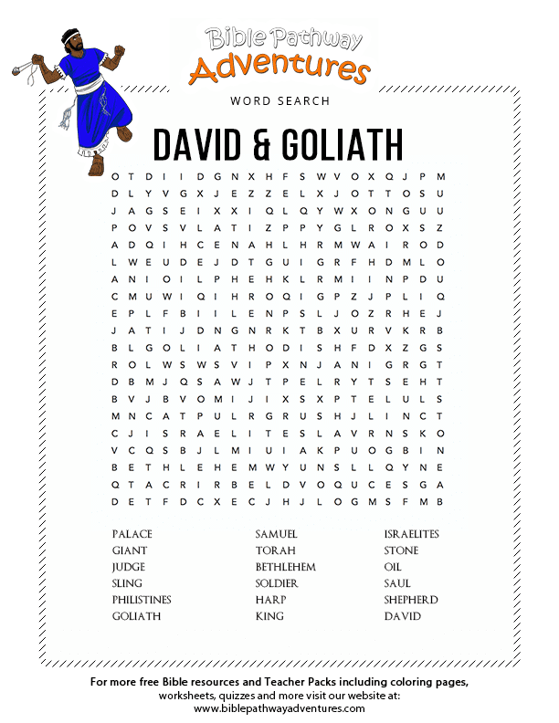 Bible Quiz for Kids: David and Goliath | Free Download