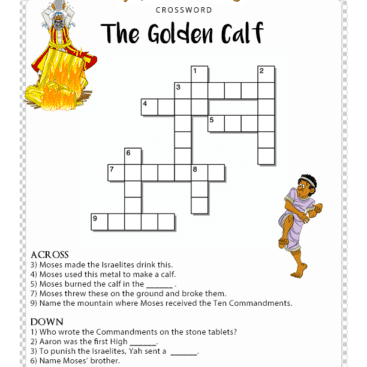 Golden Calf Coloring Page Free Bible Activities For Worksheets Quizzes Puzzles