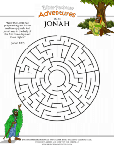Children S Bible Story Jonah And The Big Fish The Story