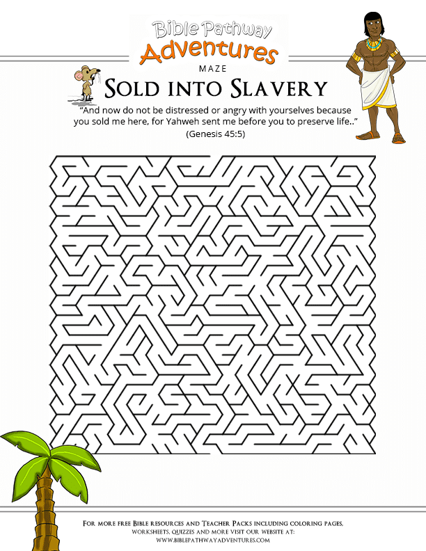 Bible Maze Puzzle: Sold into Slavery (Joseph) : Free Download
