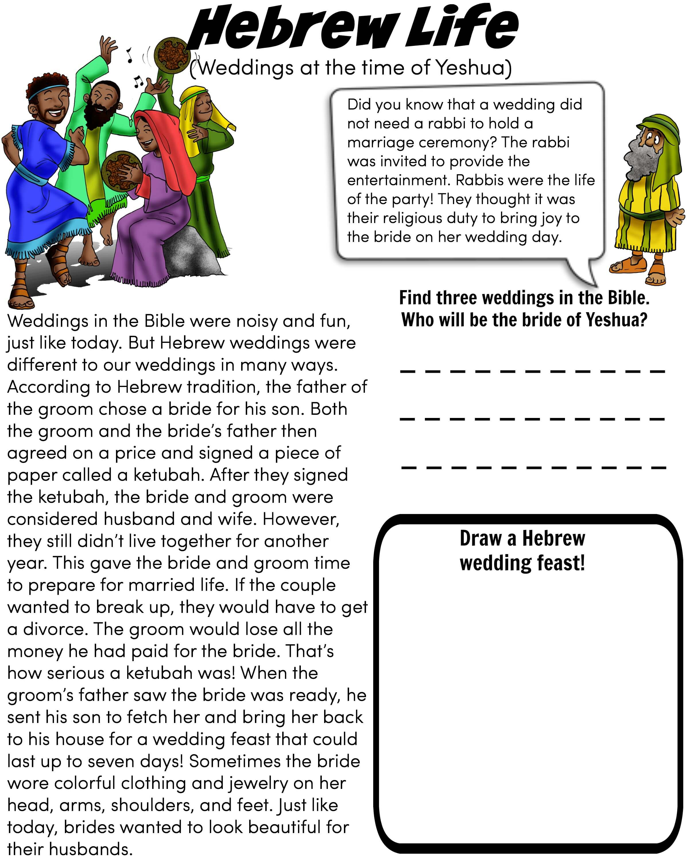 worksheet Hebrew Worksheets free bible worksheet hebrew wedding yeshua jesus life weddings