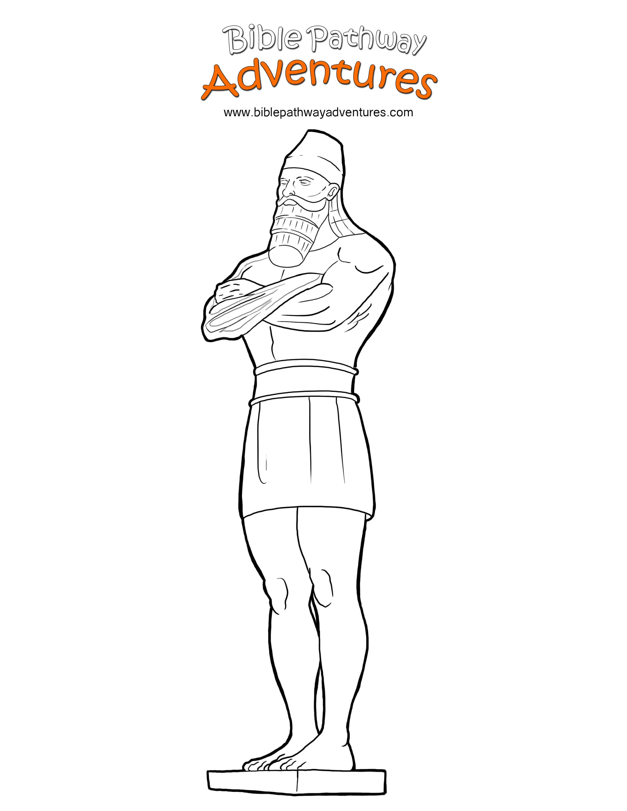 free bible coloring page king nebuchadnezzar 39 s statue