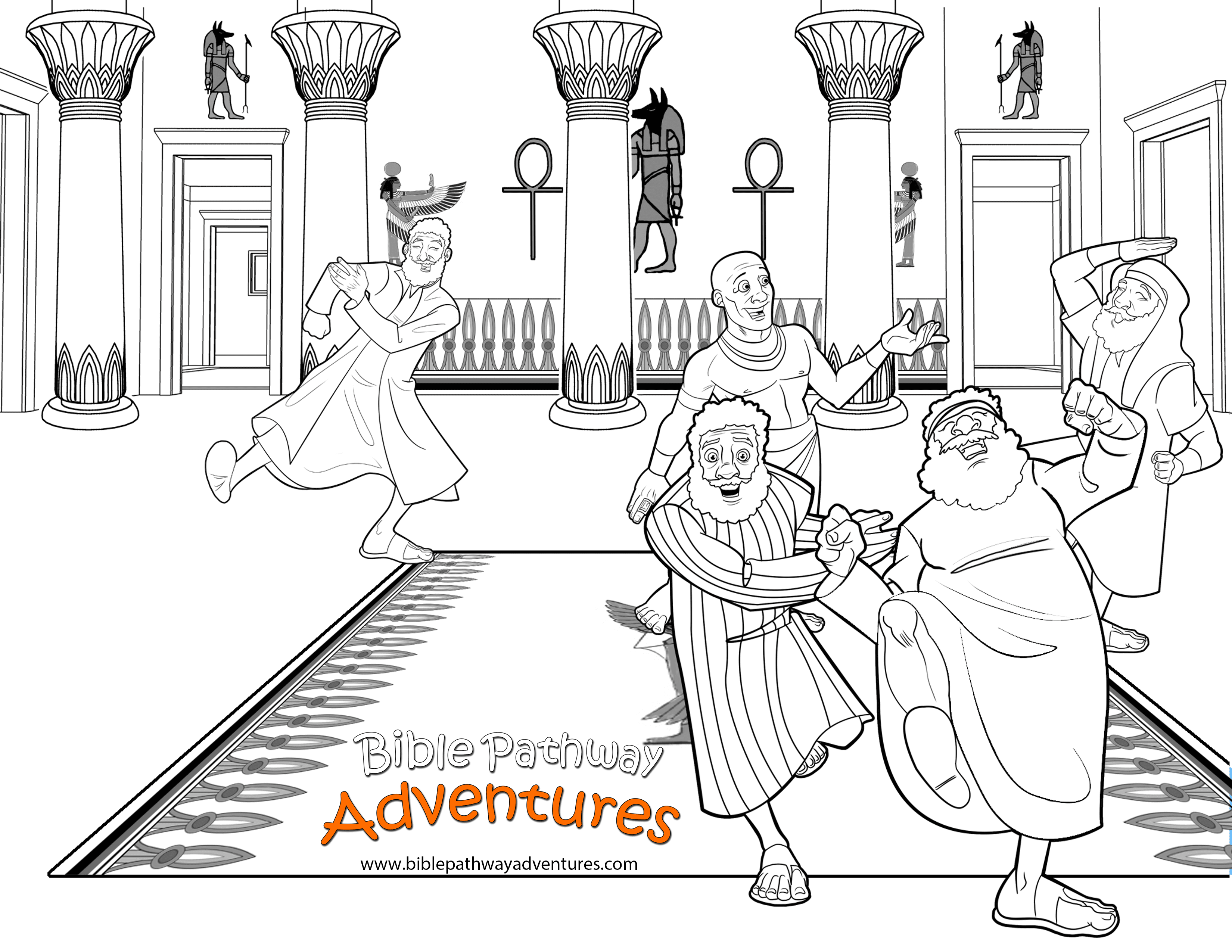 Free bible coloring page joseph reunited with brothers for Bible coloring pages joseph
