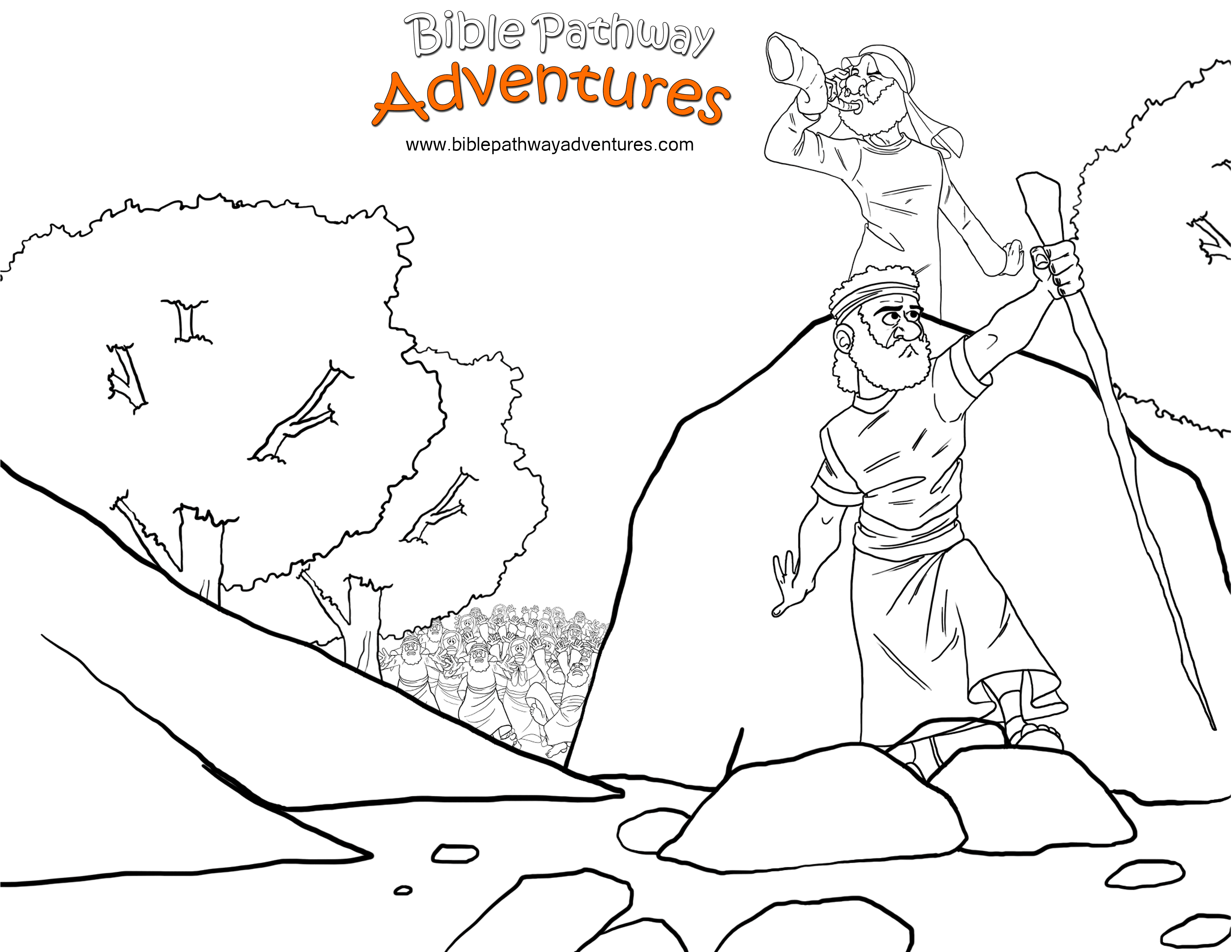 free bible coloring pages joshua - photo#25