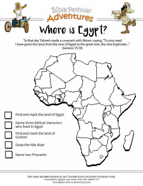 Where Is Egypt Bible Worksheet Free Download - Where is egypt
