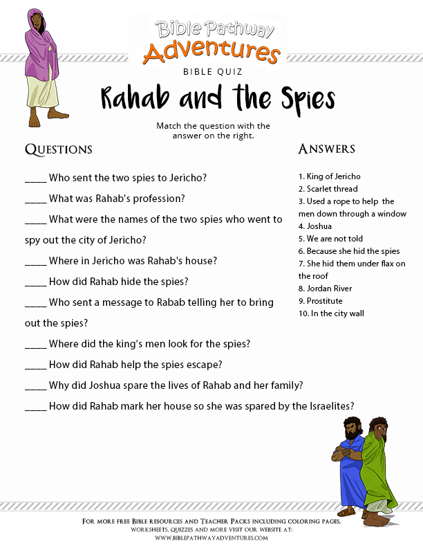 Project Description Enjoy Our Free Bible Quiz Rahab And The Spies
