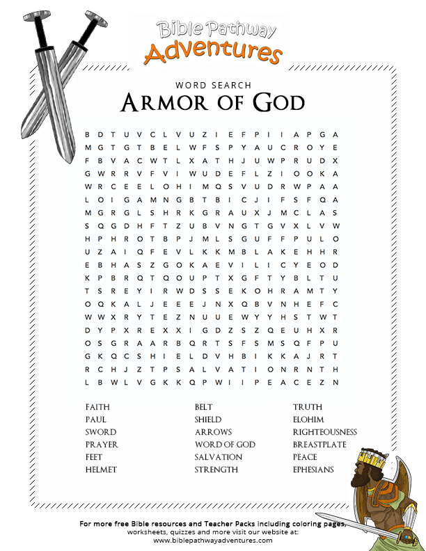 Bible Word Search: Armor of God : Free Download