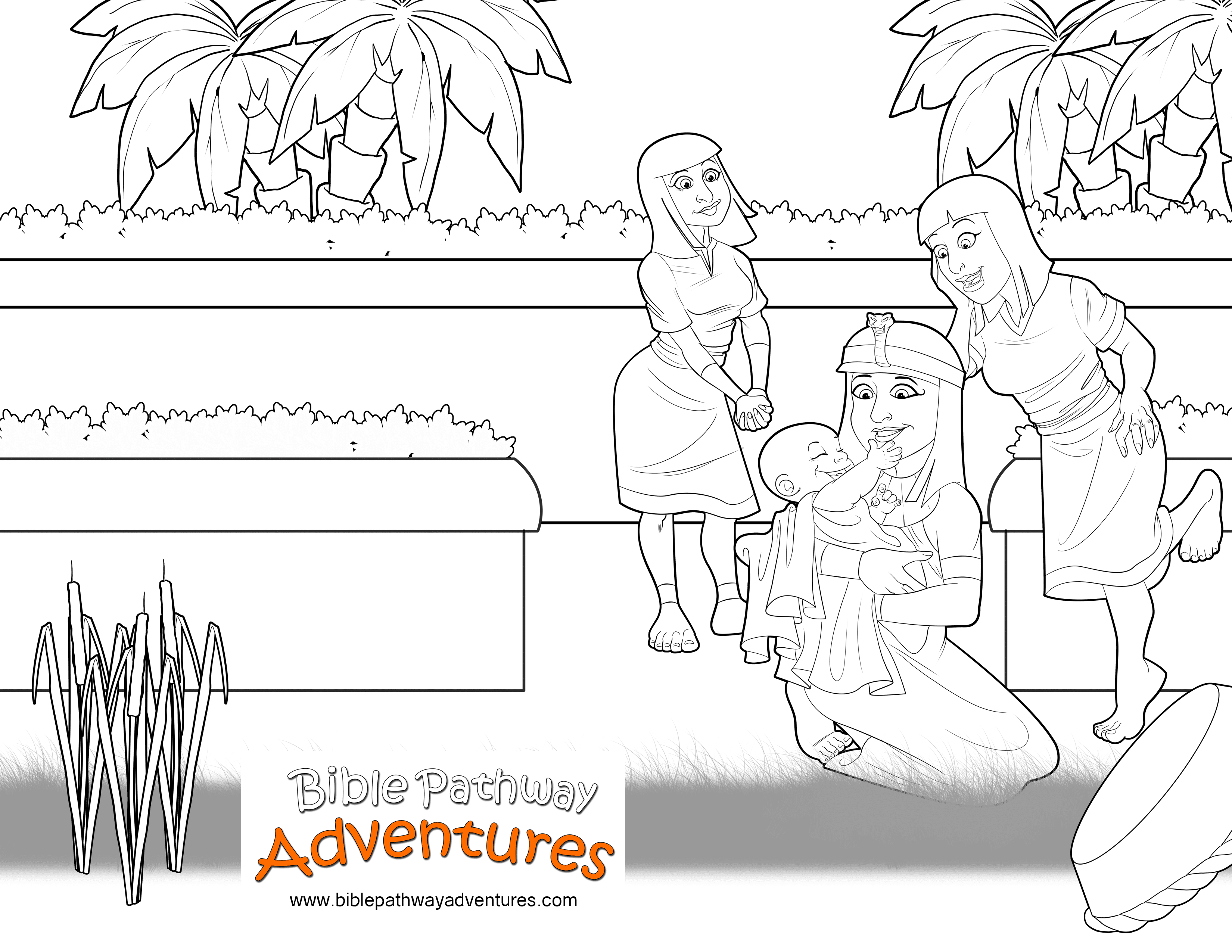 Bible Coloring page: Baby Moses | Free Download