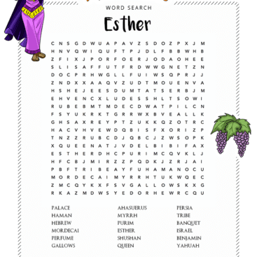Esther Bible Story Free Printable Activities Quizzes