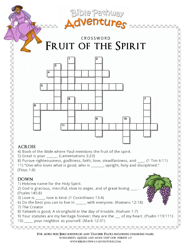 Bible Quiz for Kids Fruit of the