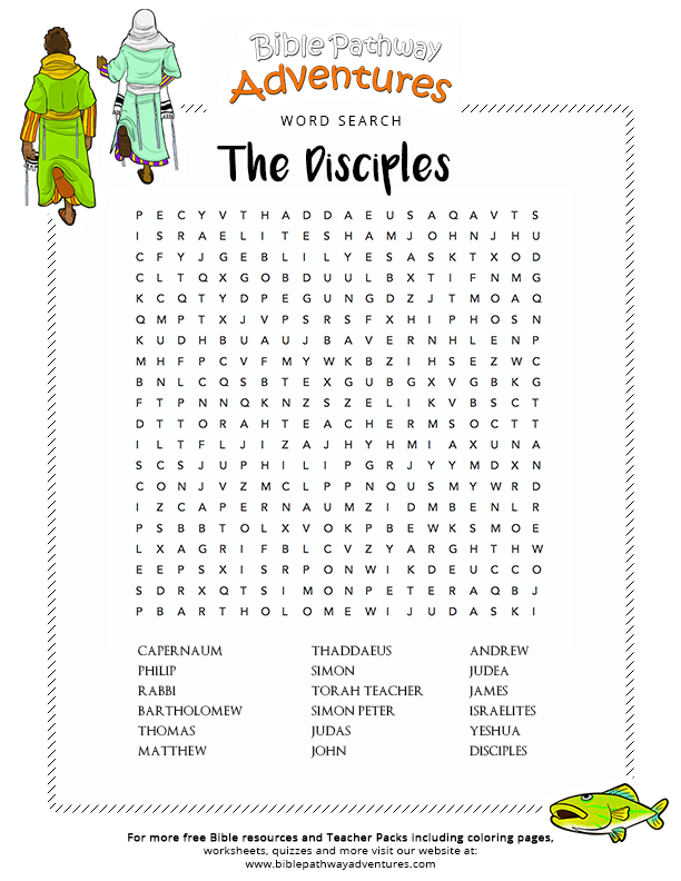Bible Word Search The Disciples