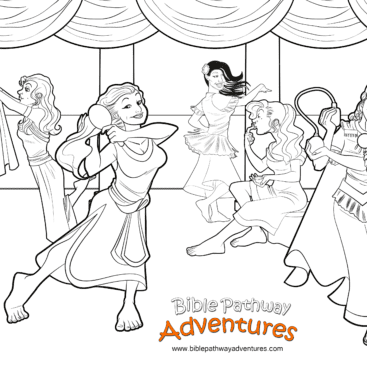 esther prepares to meet the king - Esther Bible Story Coloring Pages