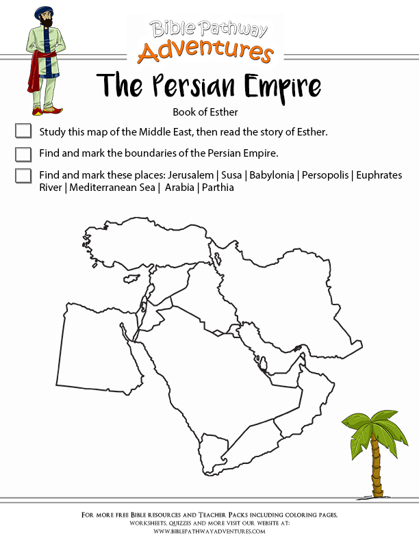 the persian empire - Esther Bible Story Coloring Pages