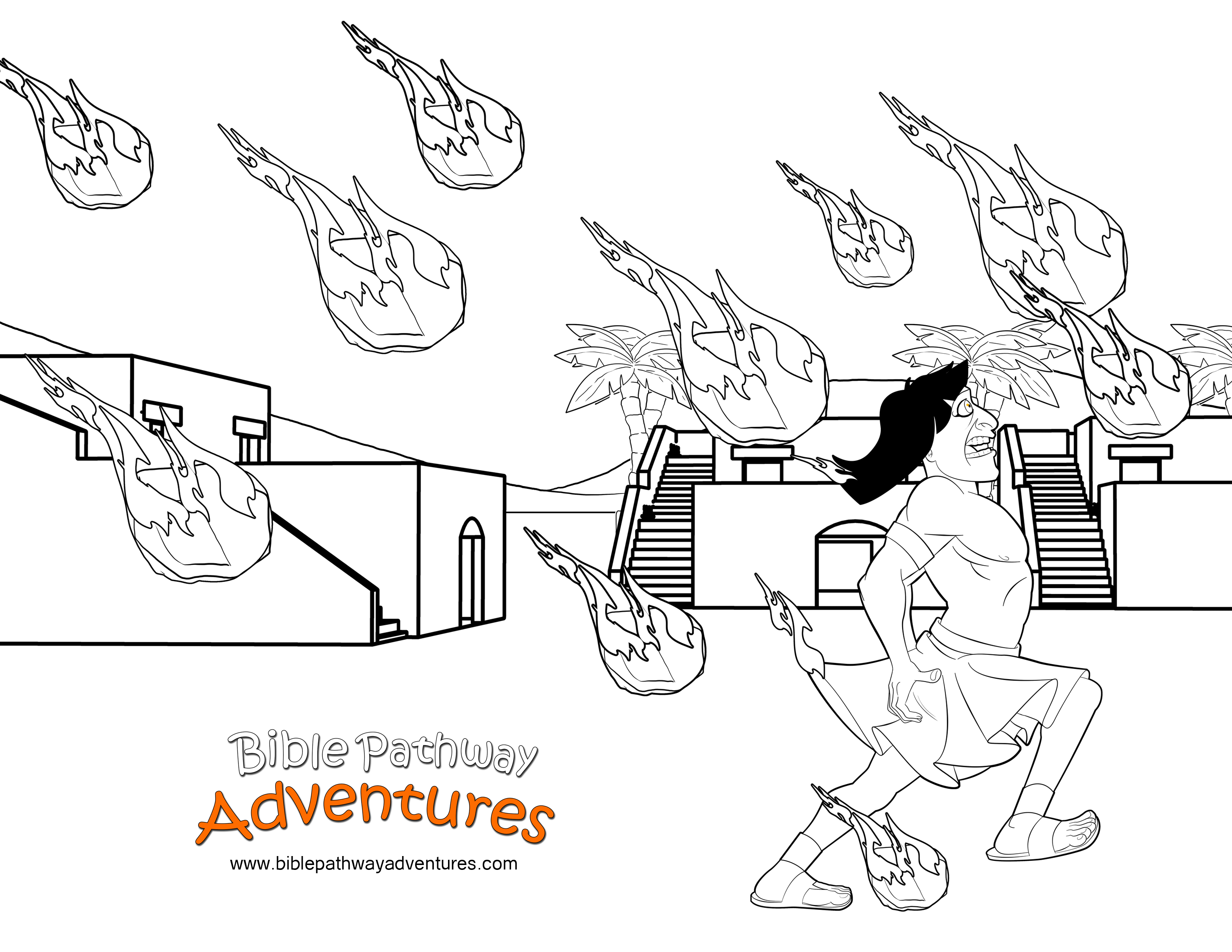 free bible coloring page plague of hail ten plagues of egypt