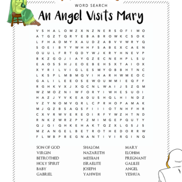 Bible Word Search Puzzles For Kids
