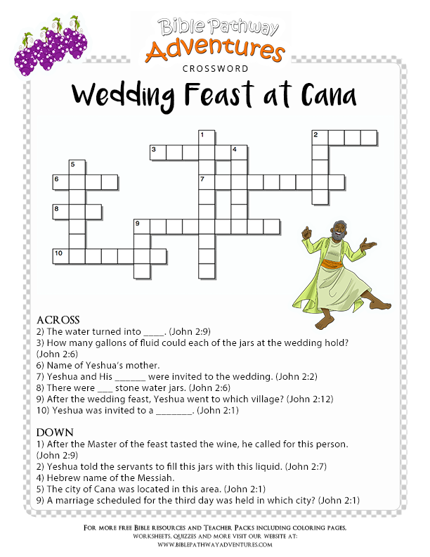 Project Description Enjoy Our Free Bible Crossword Wedding Feast At Cana