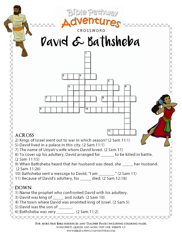Bible Crossword Puzzle David And Bathsheba