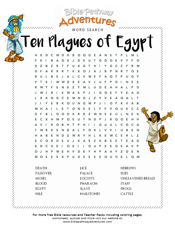 Bible Word Search Ten Plagues Of Egypt Free Download