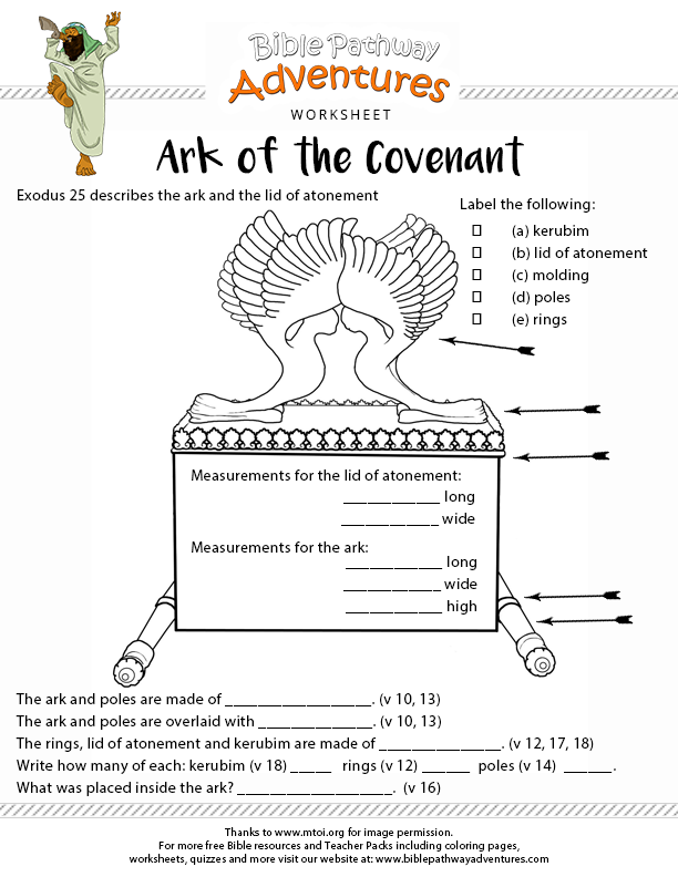 Ark of the Covenant – Bible Worksheets
