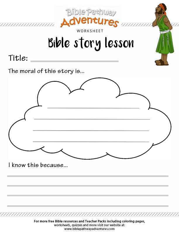 Free Printable Bible Story Worksheets : Bible story lesson worksheet free download