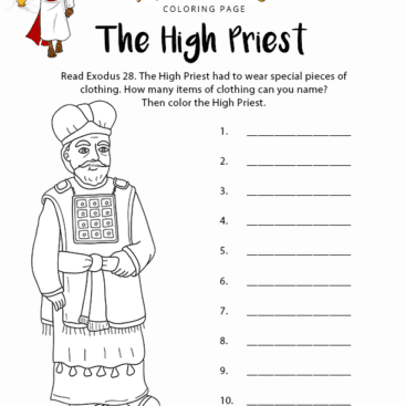The High Priest Coloring Page