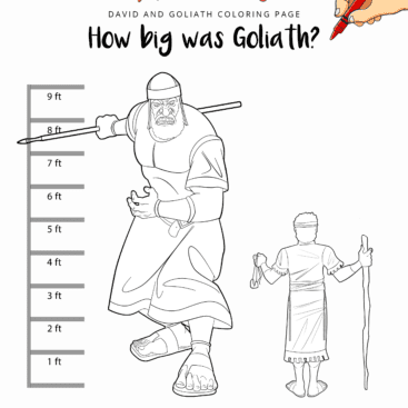 How Big Was Goliath Coloring Page