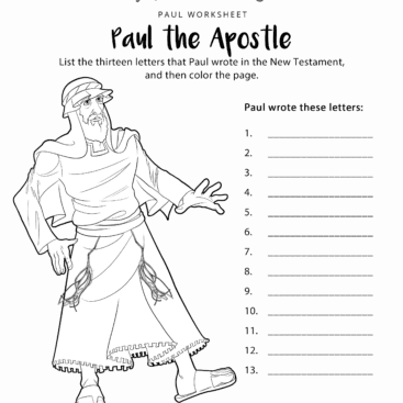 Free bible activities for kids worksheets quizzes for Apostle paul coloring page