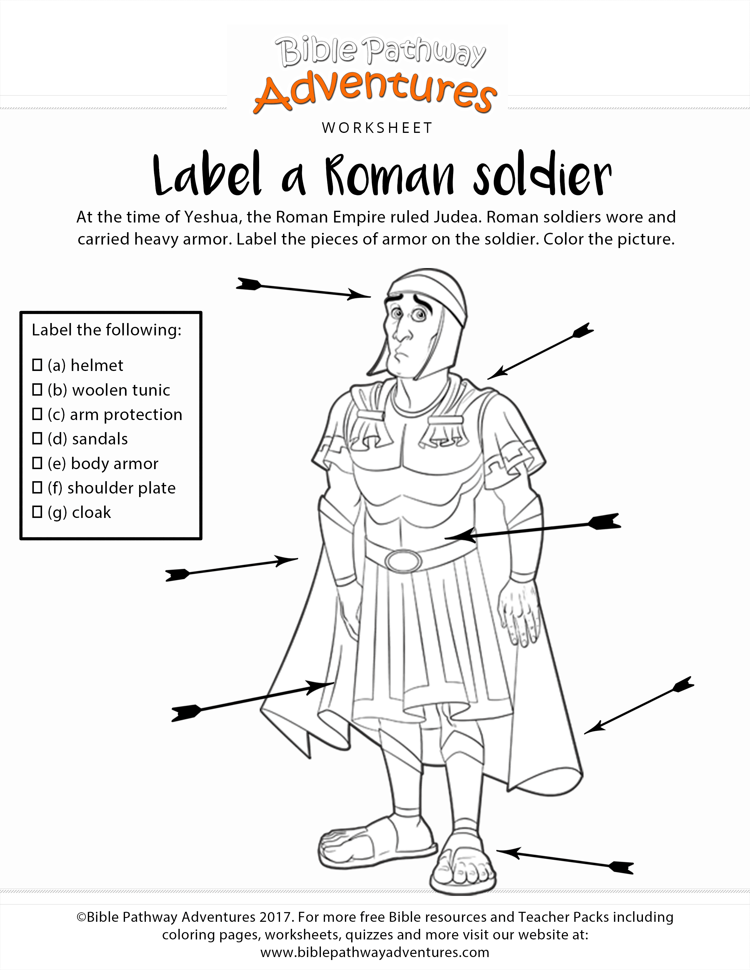 Worksheets Roman Empire Worksheet label a roman soldier worksheet coloring page free download and worksheet